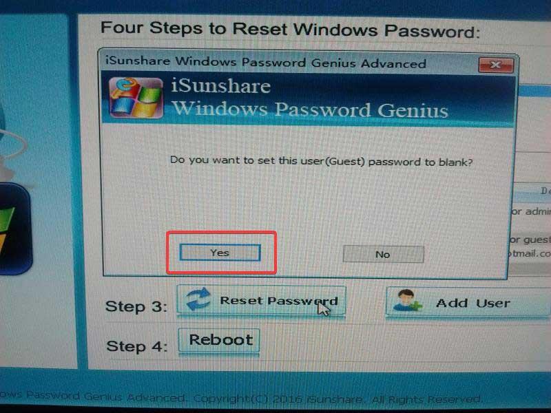 isunshare-password-genius-click-yes