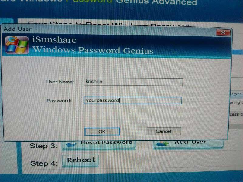 isunshare-password-genius-enter-user-details