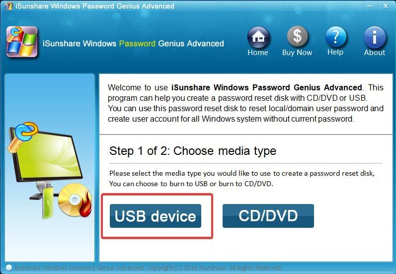 isunshare-password-genius-select-usb-device