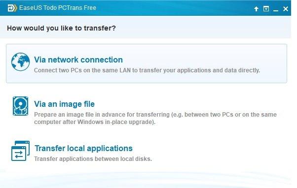 3 transfer modes of EaseUS Todo PCTrans