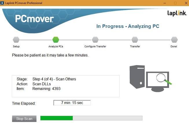 Scanning PCs in PCmover