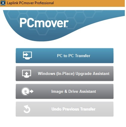 Laplink PCmover's transfer options