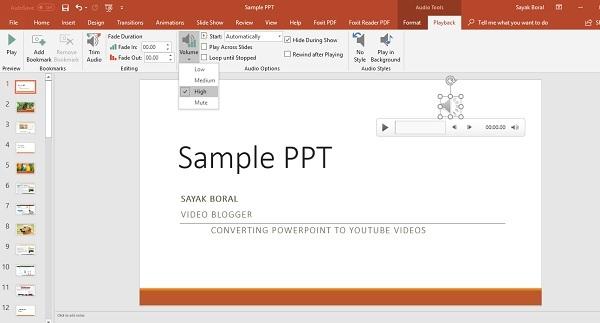 PowerPoint 2010 audio narration
