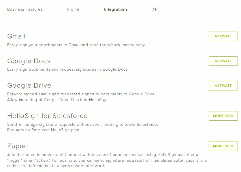 hellosign-integrations