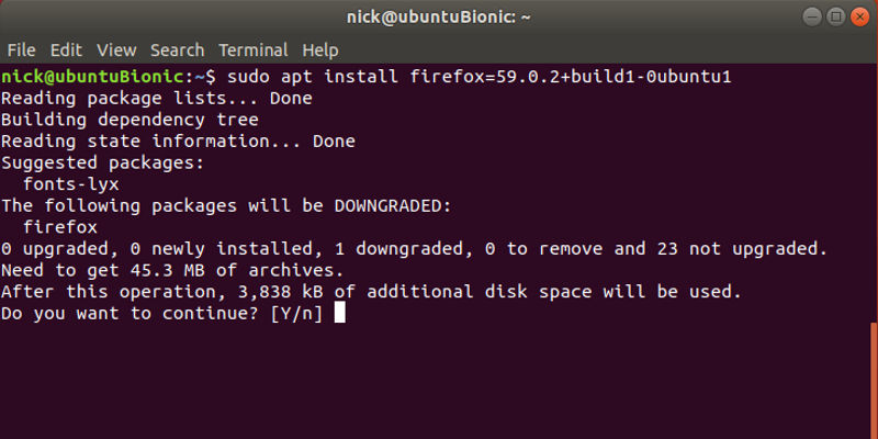 Roll Back Packages Linux