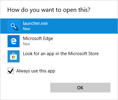 search-deflector-select-launcher-file