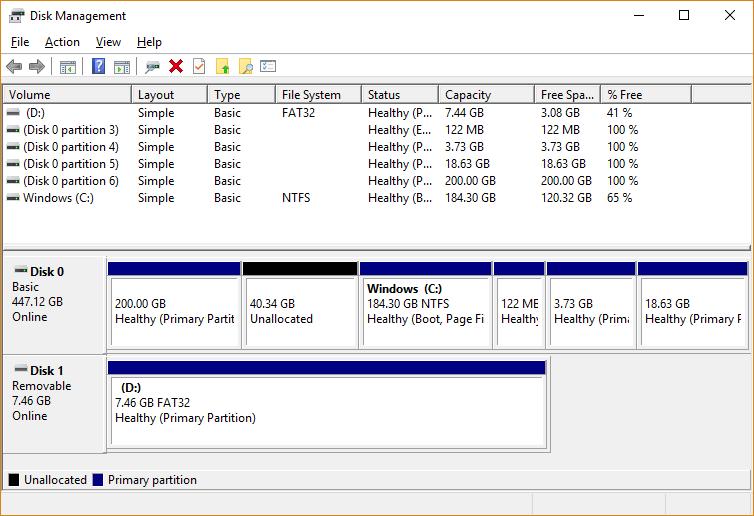 virtualbox-windows-disk-management