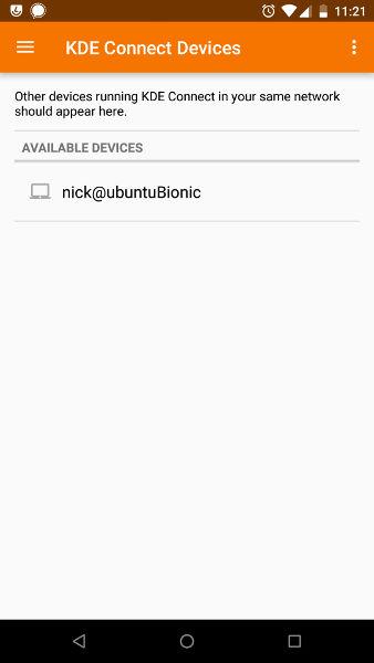 KDE Connect Desktop Found