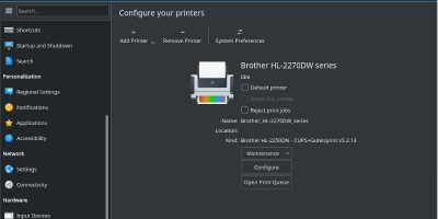 Configure Your Printer On Linux